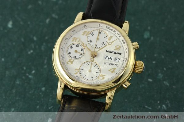 Used luxury watch Montblanc Meisterstück chronograph 18 ct gold automatic Kal. 4810501 Ref. 7000  | 150535 04