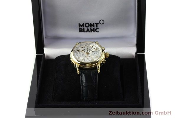 Used luxury watch Montblanc Meisterstück chronograph 18 ct gold automatic Kal. 4810501 Ref. 7000  | 150535 07