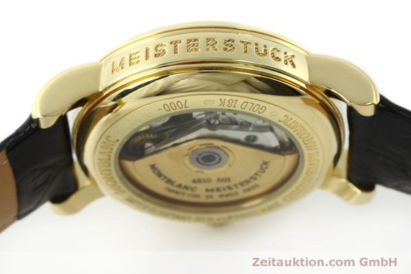 Used luxury watch Montblanc Meisterstück chronograph 18 ct gold automatic Kal. 4810501 Ref. 7000  | 150535 12