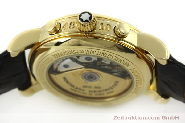 Used luxury watch Montblanc Meisterstück chronograph 18 ct gold automatic Kal. 4810501 Ref. 7000  | 150535 13