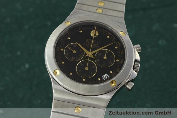 Used luxury watch Zenith Elprimero chronograph steel / gold automatic Kal. 400 Ref. 59.0010.400  | 150544 04
