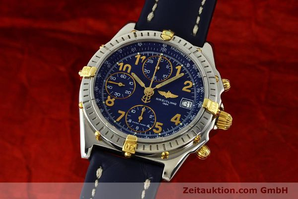 Used luxury watch Breitling Chronomat chronograph steel / gold automatic Kal. B13 ETA 7750 Ref. B13050.1  | 150554 04
