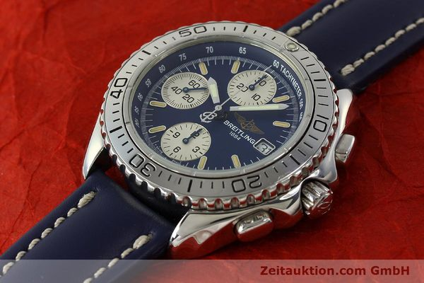 Used luxury watch Breitling Shark chronograph steel automatic Kal. B13 ETA 7750 Ref. A13051  | 150555 01