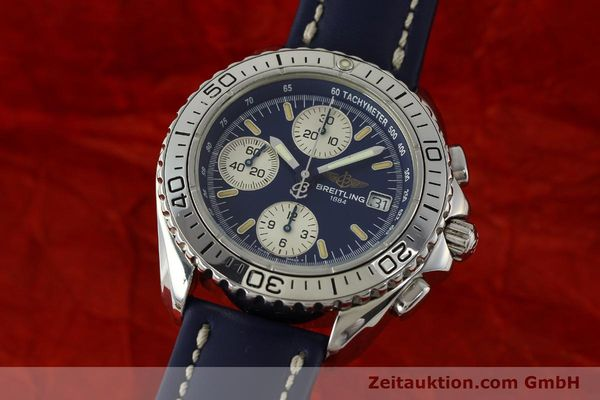 Used luxury watch Breitling Shark chronograph steel automatic Kal. B13 ETA 7750 Ref. A13051  | 150555 04
