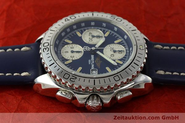 Used luxury watch Breitling Shark chronograph steel automatic Kal. B13 ETA 7750 Ref. A13051  | 150555 05