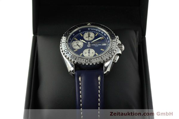 Used luxury watch Breitling Shark chronograph steel automatic Kal. B13 ETA 7750 Ref. A13051  | 150555 07