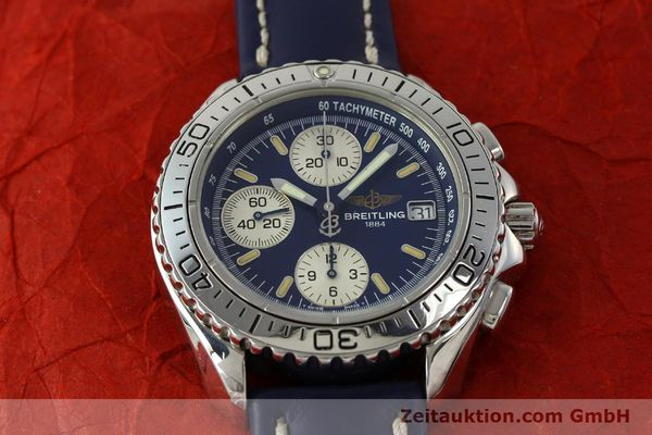 Used luxury watch Breitling Shark chronograph steel automatic Kal. B13 ETA 7750 Ref. A13051  | 150555 14