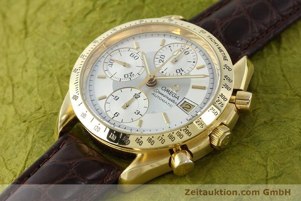 montre de luxe d occasion Omega Speedmaster chronographe or 18 ct automatique Kal. 1155  | 150571 01