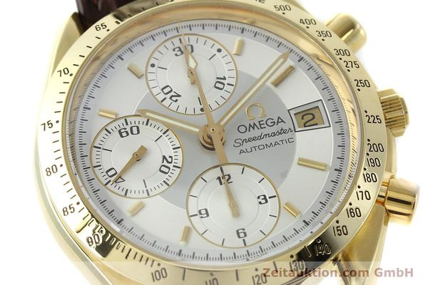 montre de luxe d occasion Omega Speedmaster chronographe or 18 ct automatique Kal. 1155  | 150571 02