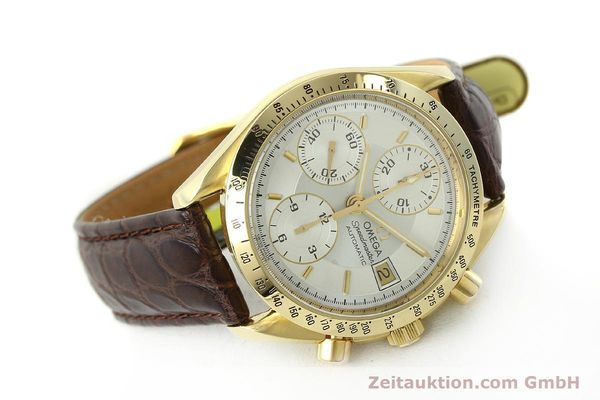 montre de luxe d occasion Omega Speedmaster chronographe or 18 ct automatique Kal. 1155  | 150571 03