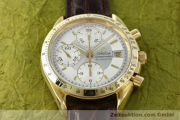 montre de luxe d occasion Omega Speedmaster chronographe or 18 ct automatique Kal. 1155  | 150571 15