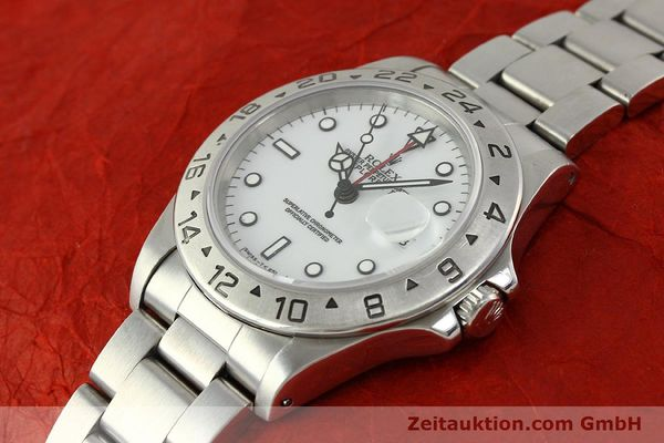 Used luxury watch Rolex Explorer II steel automatic Kal. 3185 Ref. 16570  | 150586 01