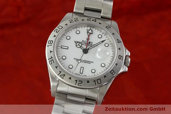 Used luxury watch Rolex Explorer II steel automatic Kal. 3185 Ref. 16570  | 150586 04