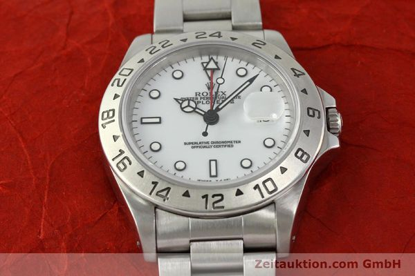 Used luxury watch Rolex Explorer II steel automatic Kal. 3185 Ref. 16570  | 150586 15