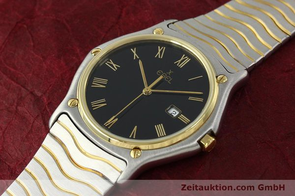 Used luxury watch Ebel Classic Wave steel / gold quartz Kal. 83 Ref. 183903  | 150589 01