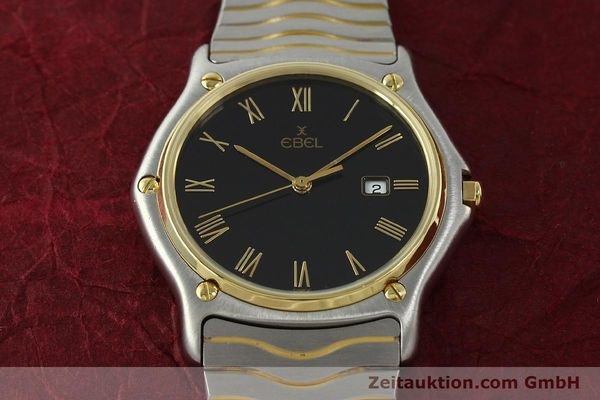 Used luxury watch Ebel Classic Wave steel / gold quartz Kal. 83 Ref. 183903  | 150589 15