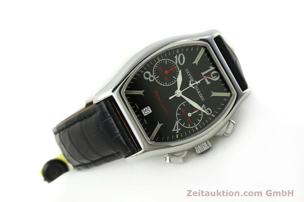 Used luxury watch Ulysse Nardin Michelangelo chronograph steel automatic Kal. ETA 2894-2 Ref. 563-42 LIMITED EDITION | 150601 03