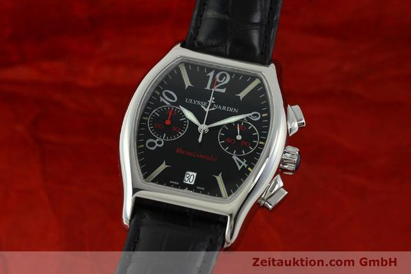 Used luxury watch Ulysse Nardin Michelangelo chronograph steel automatic Kal. ETA 2894-2 Ref. 563-42 LIMITED EDITION | 150601 04