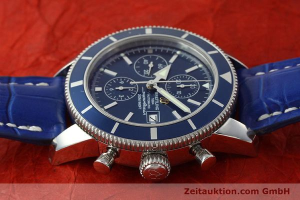 Used luxury watch Breitling Superocean Chronograph chronograph steel automatic Kal. B13 ETA 7750 Ref. A13320  | 150606 05