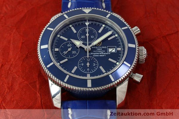 Used luxury watch Breitling Superocean Chronograph chronograph steel automatic Kal. B13 ETA 7750 Ref. A13320  | 150606 15