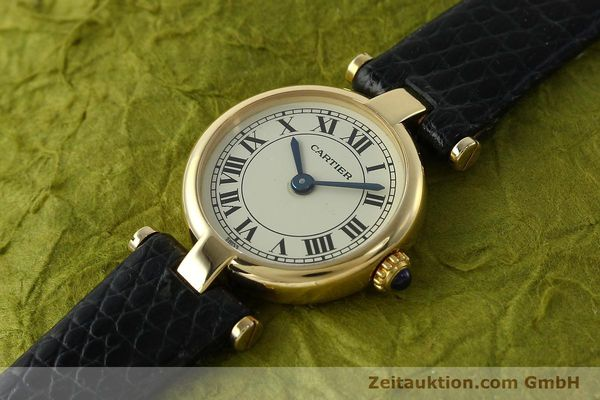 Used luxury watch Cartier * 18 ct gold quartz Kal. 157  | 150617 01