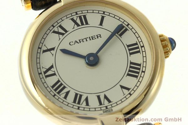 Used luxury watch Cartier * 18 ct gold quartz Kal. 157  | 150617 02