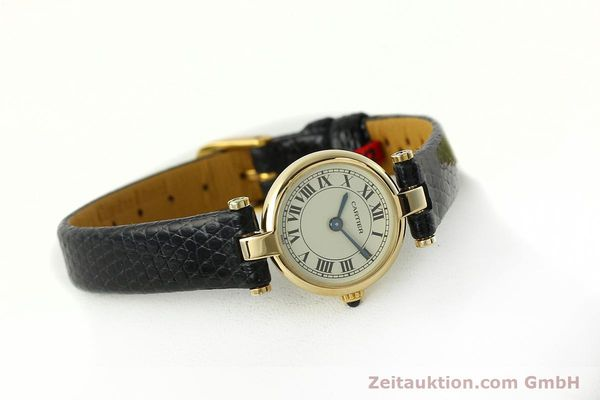 Used luxury watch Cartier * 18 ct gold quartz Kal. 157  | 150617 03