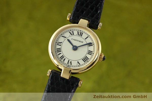 Used luxury watch Cartier * 18 ct gold quartz Kal. 157  | 150617 04