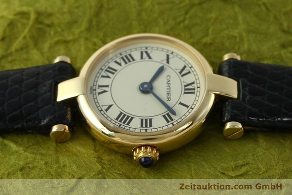 Used luxury watch Cartier * 18 ct gold quartz Kal. 157  | 150617 05