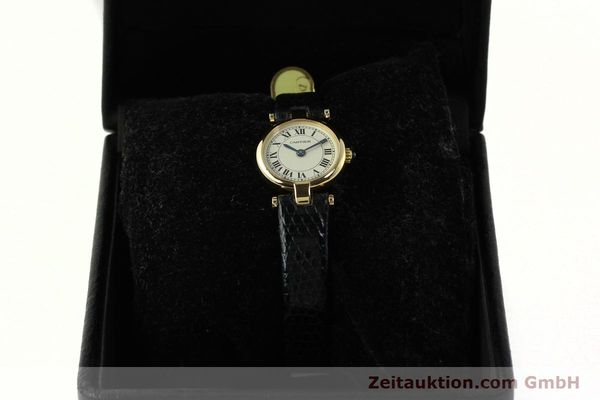 Used luxury watch Cartier * 18 ct gold quartz Kal. 157  | 150617 07