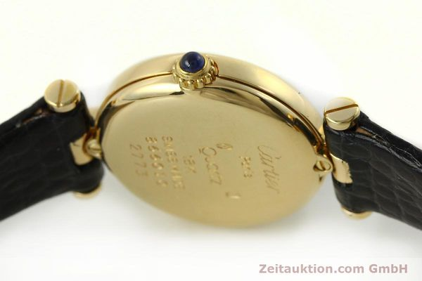 Used luxury watch Cartier * 18 ct gold quartz Kal. 157  | 150617 08