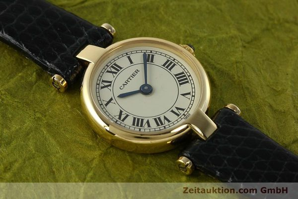 Used luxury watch Cartier * 18 ct gold quartz Kal. 157  | 150617 12