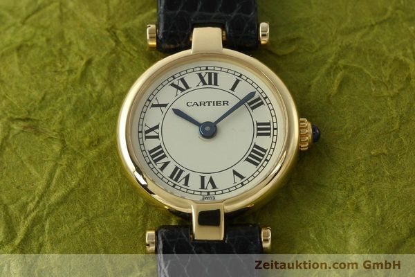 Used luxury watch Cartier * 18 ct gold quartz Kal. 157  | 150617 13