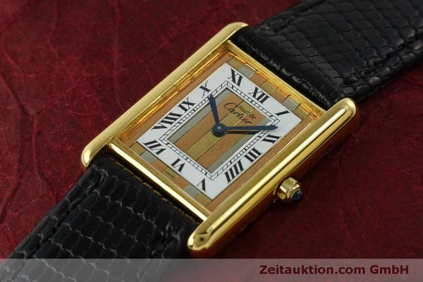 Used luxury watch Cartier Tank silver-gilt quartz Kal. 81  | 150618 01