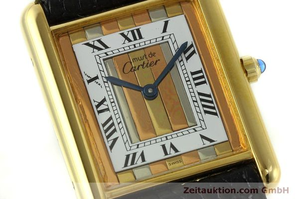 Used luxury watch Cartier Tank silver-gilt quartz Kal. 81  | 150618 02