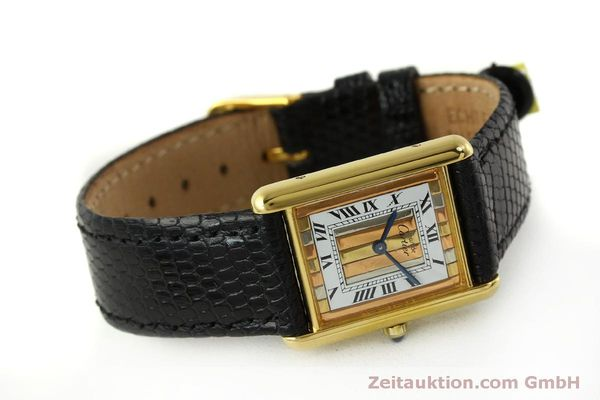 Used luxury watch Cartier Tank silver-gilt quartz Kal. 81  | 150618 03