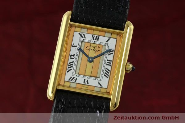 Used luxury watch Cartier Tank silver-gilt quartz Kal. 81  | 150618 04