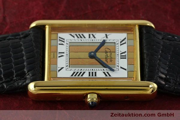 Used luxury watch Cartier Tank silver-gilt quartz Kal. 81  | 150618 05