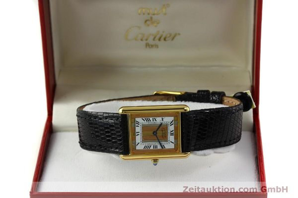 Used luxury watch Cartier Tank silver-gilt quartz Kal. 81  | 150618 07