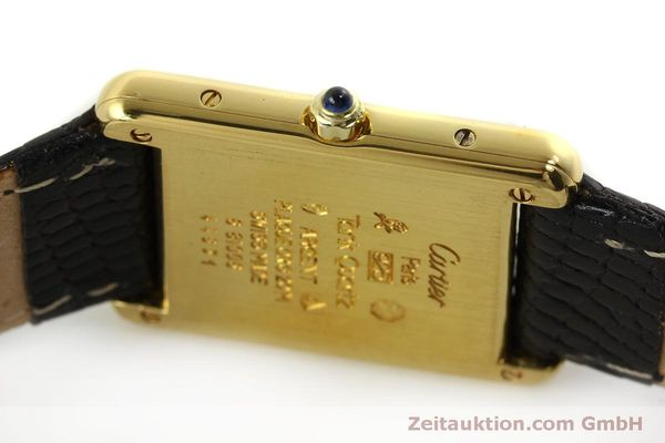Used luxury watch Cartier Tank silver-gilt quartz Kal. 81  | 150618 09