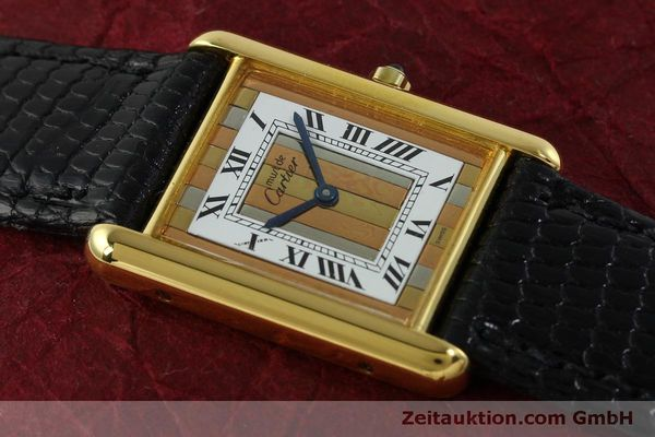 Used luxury watch Cartier Tank silver-gilt quartz Kal. 81  | 150618 12