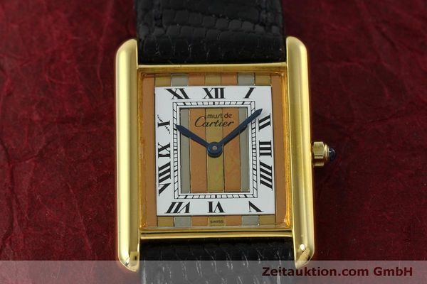 Used luxury watch Cartier Tank silver-gilt quartz Kal. 81  | 150618 13