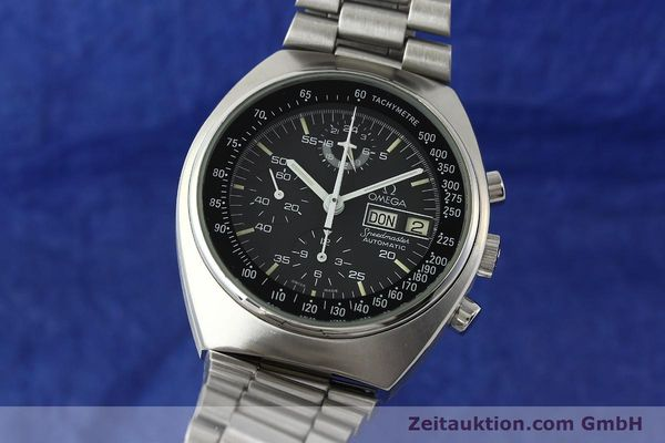 Used luxury watch Omega Speedmaster chronograph steel automatic Kal. 1045  | 150621 04
