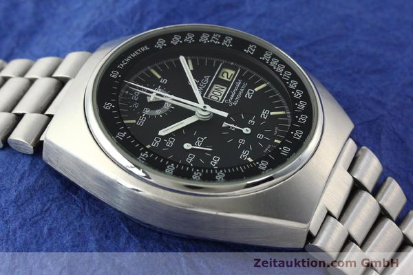 Used luxury watch Omega Speedmaster chronograph steel automatic Kal. 1045  | 150621 14