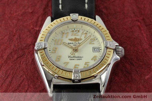 Used luxury watch Breitling Callistino steel / gold quartz Kal. B52 Ref. D52345  | 150630 13
