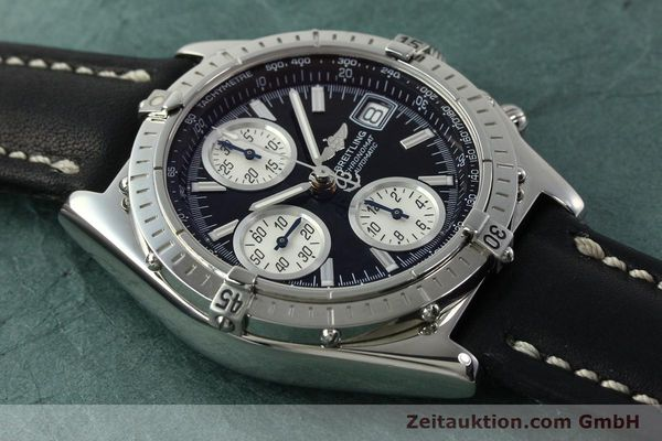 Used luxury watch Breitling Chronomat chronograph steel automatic Kal. B13 ETA 7750 Ref. A13050.1  | 150638 14