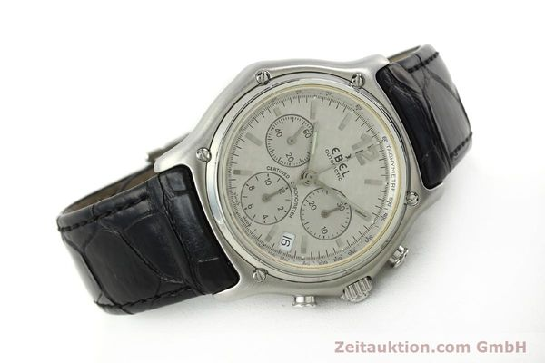Used luxury watch Ebel 1911 chronograph steel automatic Kal. 137 Ref. 9137240  | 150639 03