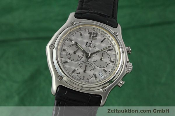 Used luxury watch Ebel 1911 chronograph steel automatic Kal. 137 Ref. 9137240  | 150639 04