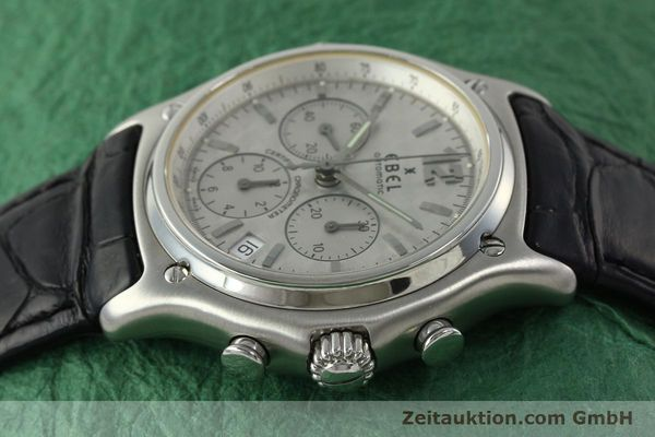 Used luxury watch Ebel 1911 chronograph steel automatic Kal. 137 Ref. 9137240  | 150639 05