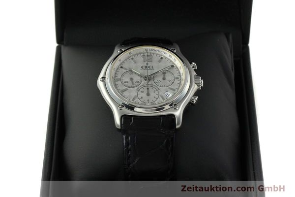 Used luxury watch Ebel 1911 chronograph steel automatic Kal. 137 Ref. 9137240  | 150639 07